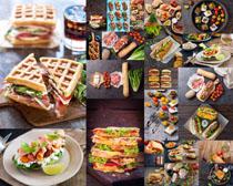 汉堡包早餐食物摄影高清图片