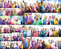 欧美开心派对人物摄影高清图片