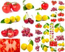 樱桃西红柿柠檬摄影高清图片