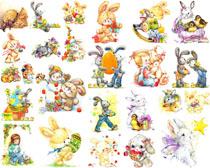 漫画卡通小兔子摄影高清图片