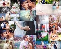 浪漫甜蜜爱情婚礼摄影高清图片
