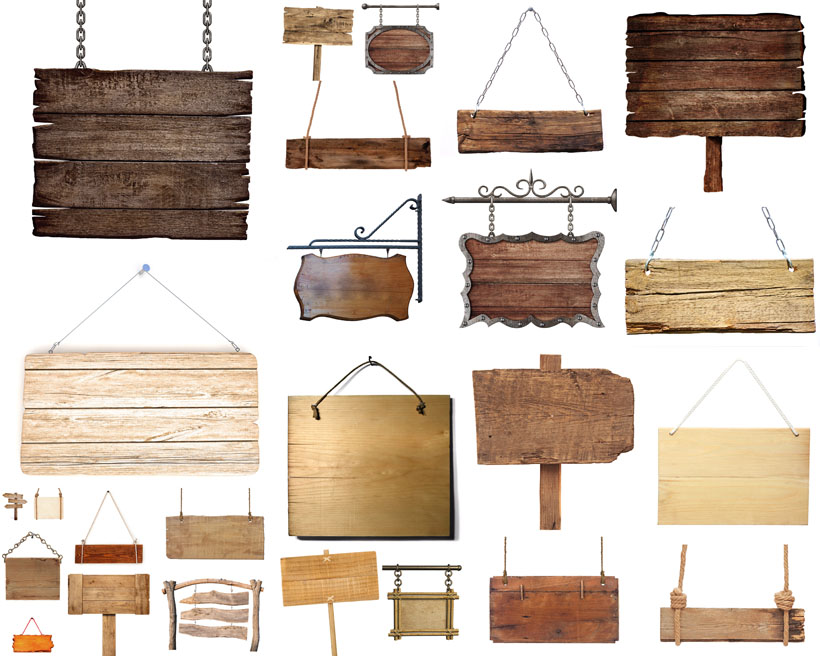 木板吊牌摄影高清图片