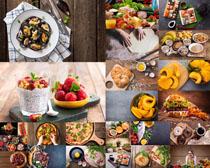 食物原料披萨摄影高清图片