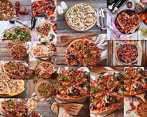 国外美食披萨摄影高清图片
