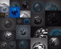 三维圆形球摄影高清图片
