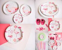 餐具盘子绘画摄影高清图片