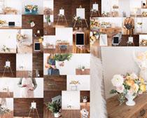 家居花朵布置摄影高清图片