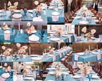 餐具桌面布置摄影高清图片