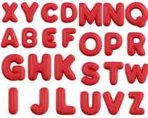 红色字母摄影高清图片