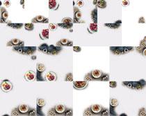 杏仁干果食材摄影高清图片
