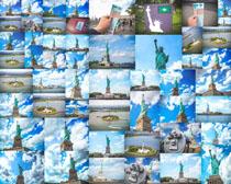 建筑自由女神摄影高清图片