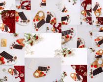 巧克力水果摄影高清图片