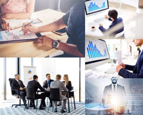 工作与会议商务人士摄影高清图片