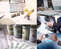 货币与商务人士摄影高清图片