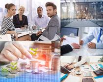 国外职业人士商谈会议摄影高清图片