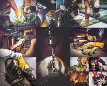 机械工具工人摄影高清图片