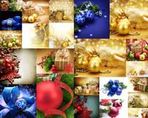 圣诞节日球装饰摄影高清图片