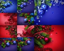 圣诞树上的挂件摄影高清图片
