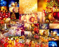圣诞节装饰球礼物摄影高清图片