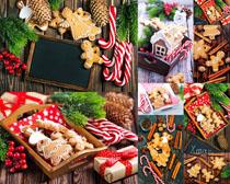 漂亮的圣诞饼干摄影图片