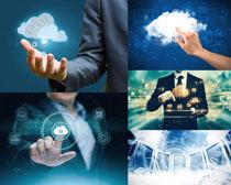 网络云服务与人士摄影高清图片