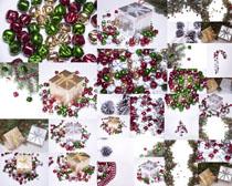 圣诞节铃铛礼物摄影高清图片