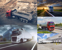 大型运输货车摄影高清图片
