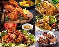 烤鸡腿美食摄影高清图片