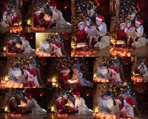 快乐圣诞节一家人摄影高清图片