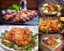 美食鸡肉鸡腿摄影高清图片
