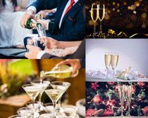 香槟酒水摄影高清图片