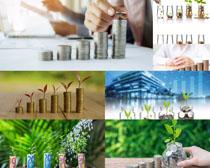 金币商务金融摄影高清图片