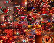 圣誕節燈光節日攝影高清圖片