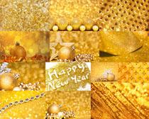 金色節日背景攝影高清圖片