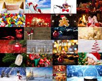 圣誕裝飾球禮物攝影高清圖片