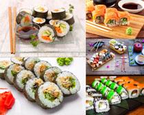 寿司与餐具摄影高清图片