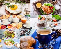 牛奶面包早餐拍摄高清图片