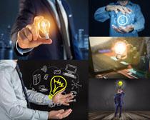 商务男人灯光创想摄影高清图片