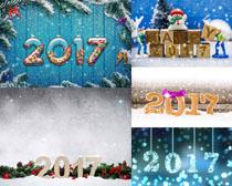 圣誕2017節日布置攝影高清圖片