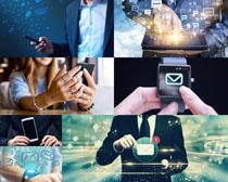 商务人士与数码产品摄影高清图片