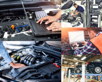检查汽车发动机摄影高清图片