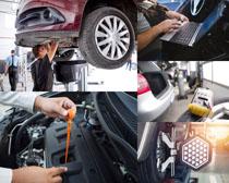 汽车四轮定位与保养摄影高清图片
