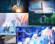 商务男人与数据摄影高清图片