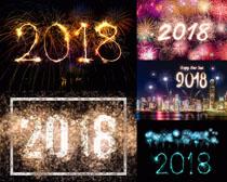 2018煙花節日背景攝影高清圖片
