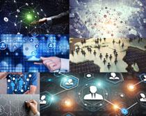 商务图标结构科技摄影高清图片