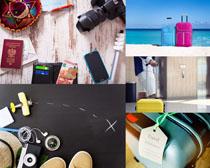 行李箱装备旅行摄影高清图片