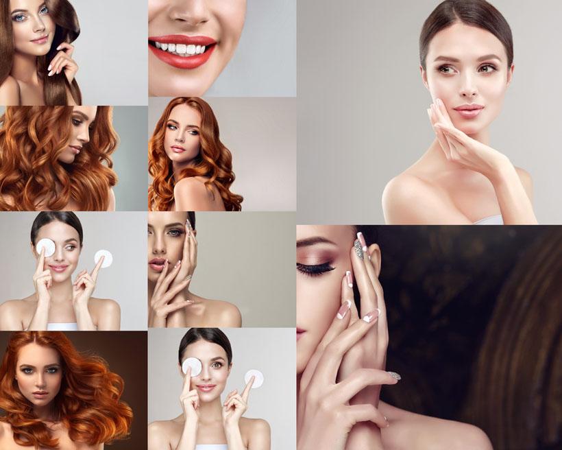 美容护理发型女子摄影高清图片