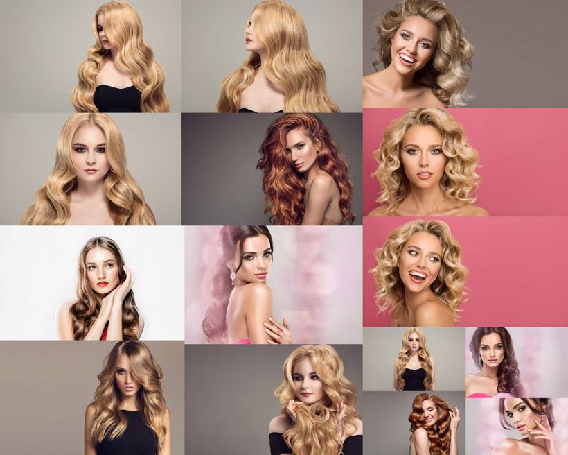 美女模特发型摄影高清图片