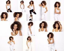 白衣模特美女摄影高清图片