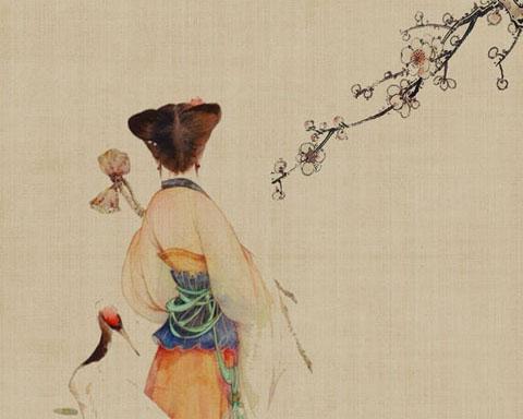 传统古典人物绘画PSD素材